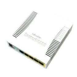 Mikrotik RouterBOARD 260GSP 5-port Gigabit smart preklopnik sa SFP cage, SwOS, plastično kučište, PSU, POE-OUT