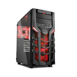 Kućište Sharkoon DG7000-G Midi Tower ATX kućište, bez napajanja, crno, crveni led