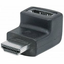 MANHATTAN HDMI Adaptor, A-Female/A-Male, Up Angle, Black, Polybag