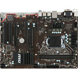 Matična ploča MSI MB H110 PC MATE, S.1151, iH110, DDR4/2133, PCIe, D-Sub/DVI/HDMI, S-ATA3, G-LAN, USB3.0, 8ch., mATX