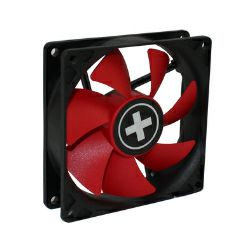 Xilence hladnjak za kućište 80×80×25mm, crno/crveni  (3-pin Molex + 4-pin)
