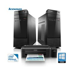 Računalo Lenovo S200 Tower PC, Intel Pentium N3700, 4GB DDR3, 500GB S-ATA, DVD+/-RW, Intel HD Graphics, G-LAN, Windows 10 Pro 64-bit + tipkovnica/miš + POKLON pisač Epson L130