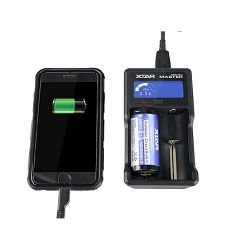 XTAR VC2 Plus USB punjač, LCD