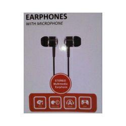 Slušalice In-ear sa mikrofonom, crne