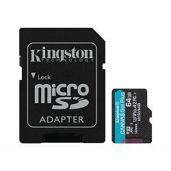 KINGSTON 64GB microSDXC Canvas Go Plus