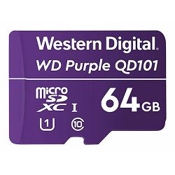WD Purple 64GB SC QD101 microSD