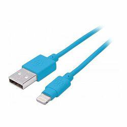 iLynk Lightning Cable, A Male / 8-Pin Male, 1 m (3 ft.), Blue