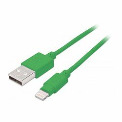iLynk Lightning Cable, A Male / 8-Pin Male, 1 m (3 ft.), Green