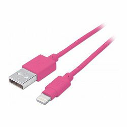 iLynk Lightning Cable, A Male / 8-Pin Male, 1 m (3 ft.), Pink