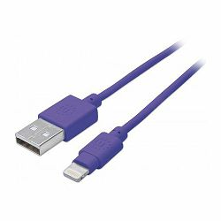 iLynk Lightning Cable, A Male / 8-Pin Male, 1 m (3 ft.), Purple