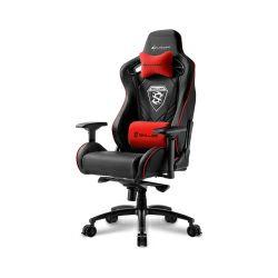 Sharkoon Skiller SGS4, igraća stolica, crno-crvena
