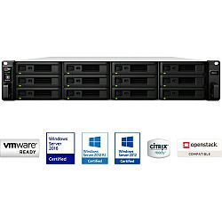 Synology RS2418+ RackStation 12-bay NAS server, Intel Atom Quad Core 2.1GHz, 4GB DDR4, Hot-Swap HDD, 4xG-LAN, Link Aggregation, Wake on LAN/WAN