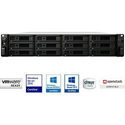Synology RS2418RP+ RackStation 12-bay NAS server, Intel Atom Quad Core 2.1GHz, 4GB DDR4, Hot-Swap HDD, 4xG-LAN, Link Aggregation, Wake on LAN/WAN, Redundant Power Supply