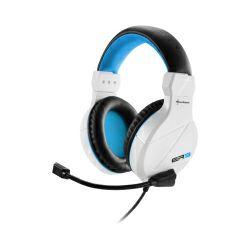 Slušalice sa mikrofonomSharkoon Rush ER3 stereo, bijelo-plave