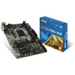 Matična ploča MSI H110M PRO-VDP, S.1151, iH110, DDR4/2133, PCIe, VGA/DVI/DP, S-ATA3, G-LAN, USB3.0, 8ch., mATX