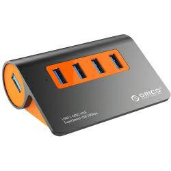 USB hub Orico 4-portni USB 3.1 Hub, dark gray+orange (ORICO M3H4-G2)