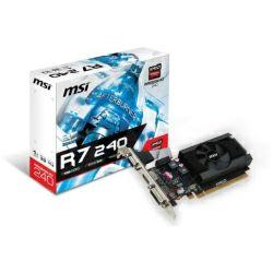 Grafička kartica MSI AMD Radeon R7 240 1GB GDDR3/64-bit PCIe 3.0, D-Sub/Single-link DVI-D/HDMI, Fan, Low Profile (R7 240 1GD3 64b LP)