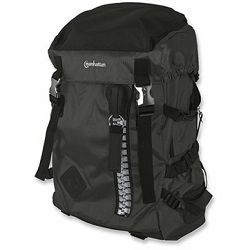 Zippack, Heavy-Duty, Top-Loading, Four-Compartment, Woven Nylon Backpack for Most Laptop Computers Up To 15.6, Black/Black