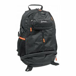 MANHATTAN Trekpack HeavyDuty/water-resistant backpack up to 17, black/orange