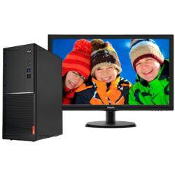 Računalo Lenovo V520 Tower, Intel i3-7100, 4GB DDR4, 256GB SSD, DVDRW, Win 10 Pro, tipkovnica/miš + Philips 22