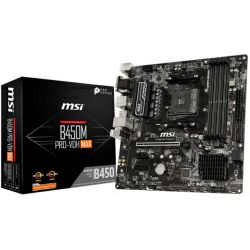 Matična ploča MSI B450M PRO-VDH MAX S.AM4, B450 DDR4/3866, PCIe, VGA/DVI-D/HDMI, SATA3, M.2, G-LAN, USB 3.1, 8ch., mATX