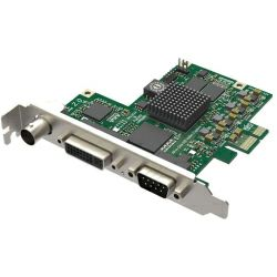 Magewell Pro capture AIO, FH PCIe x1, 1-channel HD/3GSDI / HDMI / DVI / VGA / YPbPr / CVBS / S-Vid, plus one unbalanced stereo audio. Windows/Linux/Mac.