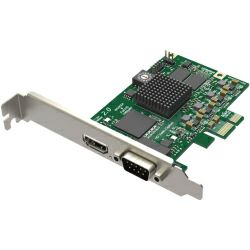 Magewell Pro capture HDMI, LP PCIe x1, 1-channel HDMI / S-Video / YPbPr / CVBS, plus 1 unbalanced stereo audio. Windows/Linux/Mac.