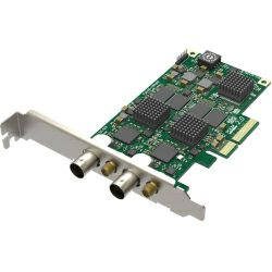 Magewell Pro capture dual SDI, LP PCIe x4, 2-channel SD/HD/3G/2K SDI. Two channels bypass loop. Windows/Linux/Mac.