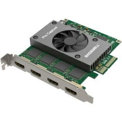 Magewell Pro capture quad HDMI, FH PCIe x4, 4-channel HDMI. Windows/Linux/Mac.