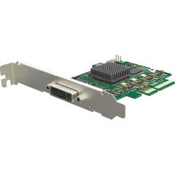 Magewell Pro capture DVI 4K, LP PCIe x4, 1-channel DVI/HDMI, Ultra HD 4Kp30 HDMI, 4Kp30 DVI. Windows/Linux/Mac.