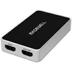 Magewell USB Capture HDMI Plus, USB 3.0 DONGLE, 1-channel HDMI with loop-through out, plus extra audio mic in / out. Plug and Play. Windows/Linux/Mac. 3-year warranty.