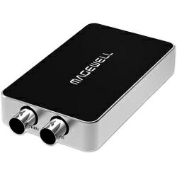 Magewell USB Capture SDI Plus, USB 3.0 DONGLE, 1-channel HD/3G/2K SDI with loop-through out, plus extra audio line in / out. Plug and Play. Windows/Linux/Mac. 3-year warranty.