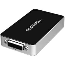 Magewell USB Capture DVI Plus, USB 3.0 DONGLE, 1-channel DVI. /DVI / VGA / YPbPr / CVBS with loop-through out, plus extra audio mic in / out. Plug and Play. Windows/Linux/Mac. 3-year warranty.