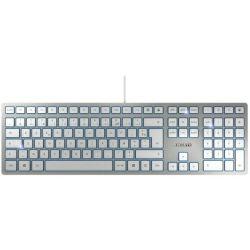 Tipkovnica Cherry KC-6000 Slim, USB, bijela/srebrna
