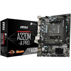 MSI MB A320M-A PRO, S.AM4, DDR4, PCIe 3.0, G-LAN, DVI-D/HDMI, mATX