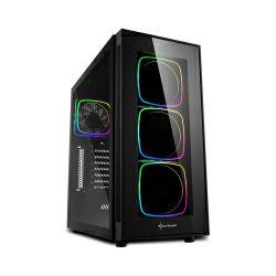 Kućište Sharkoon TG6 RGB Midi Tower ATX ,bez napajanja, prozirna prednja/bočna stranica, crno