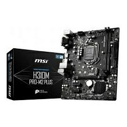 Matična ploča MSI MB H310M PRO-M2 PLUS, S.1151, H310 DDR4/2666, PCIe, M2, VGA/DVI-D/HDMI, SATA3, G-LAN, USB3.1, 8ch., mATX