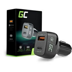 Green Cell auto punjač, 1×USB-C, 1×Quick Charge USB3.0 (CAD33)
