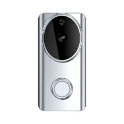 WOOX WiFi Smart zvono za vrata sa kamerom, 1280×720p, dvosmjerni audio, IR, microSD, Nightvision, Woox Home smart app, glasovna kontrola - Alexa & Google Assistant, Wi-Fi kontrola