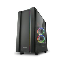 Kućište Sharkoon REV220 RGB Midi Tower ATX ,bez napajanja, crno