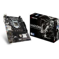 Biostar MB H410MH, S.1200, DDR4/2666, PCIe, VGA/HDMI, SATA3/M.2, G-LAN, USB3.2, 8ch., mATX