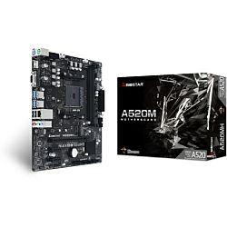 Biostar MB A520MH, S.AM4, A520, DDR4/4933, PCIe, SATA3, M.2, G-LAN, 7.1ch, VGA/HDMI, mATX