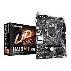 Matična ploča GigaByte MB H410M H, S.1200, DDR4/2933, PCIe, SATA3, M.2, G-LAN, VGA/HDMI, USB3.2, 7.1ch., mATX