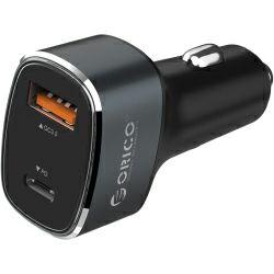 Orico USB auto punjač, 2 porta, 1×QC3.0, 1×Type-C, srebrni (ORICO UPL-2U-SV)
