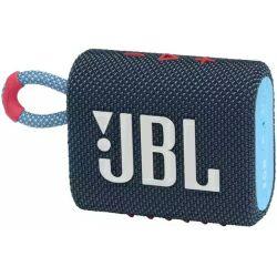 JBL Go 3 prijenosni zvučnik BT5.1, vodootporan IP67, plavo rozi
