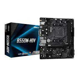 Matična ploča AsRock B550M-HDV, S.AM4, DDR4/4733+ MHz (OC), PCIe 4.0, SATA3, G-LAN, VGA/DVI-D/HDMI, USB3.2, 7.1ch, mATX
