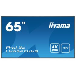 Monitor IIYAMA ProLite LH6542UHS-B3 16:9 UHD 4K (3840×2160) IPS, 18/7, 9ms, VGA/DVI/DP/HDMI×3, RS232/RJ45/IR, USB2.0×2, Android OS 8.0, zvučnici, crni