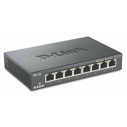D-LINK DGS-108, E 8-port 10, 100, 1000Mbps Gigabit Ethernet Switch
