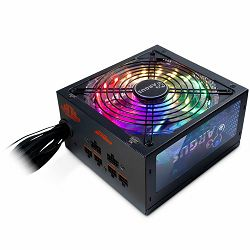 Napajanje INTER-TECH Power Supply Argus RGB-650W CM II, 650W, 80+ GOLD, Modular, RGB, 140mm fan
