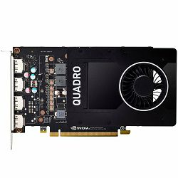 Grafička kartica NVIDIA Video Card Quadro P2200 GDDR5X 5GB/160bit, 1280 CUDA Cores, PCI-E 3.0 x16, 4xDP, Cooler, Single Slot (DP-DVI-D Cable incuded)